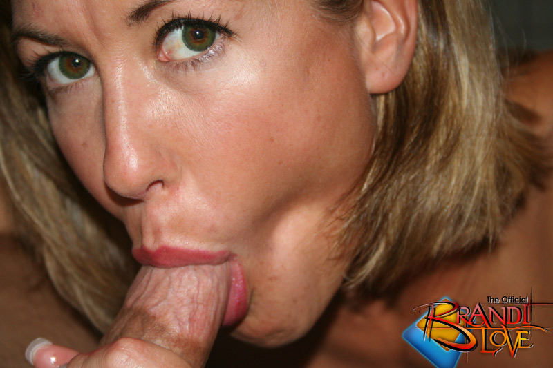 My wife mouth full of cum